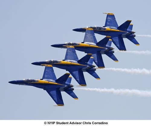 If your DSLR has a fast burst mode, it can help to capture high speed passes made famous by the Navy's Blue Angels.