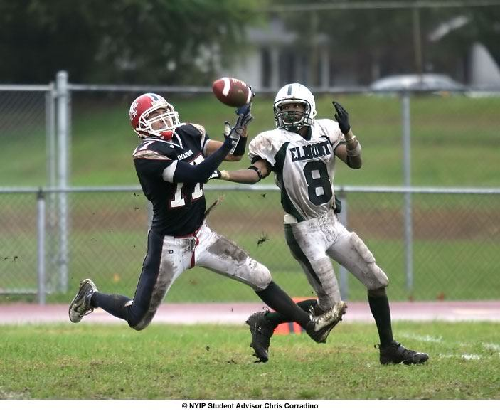 Football interception photograph