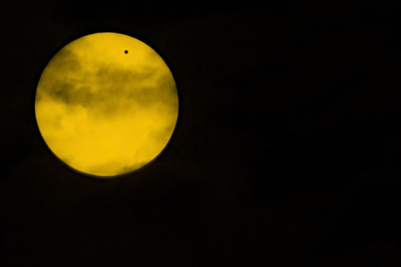 Trying astro-photography with a shot of Venus passing the moon in Toronto last summer