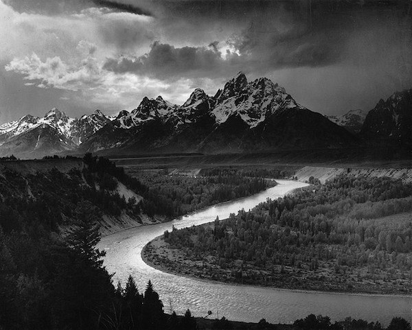 Photo credit ansel adams the tetons and the snake river 1942