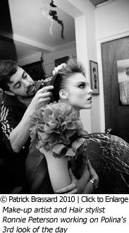 Make-up artist and Hair stylist Ronnie Peterson