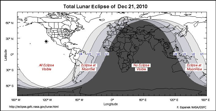 Total Lunar Eclipse of Dec 21, 2010 Graph