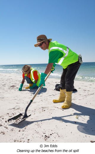 Jim Edds cleaning up Pensacola beach