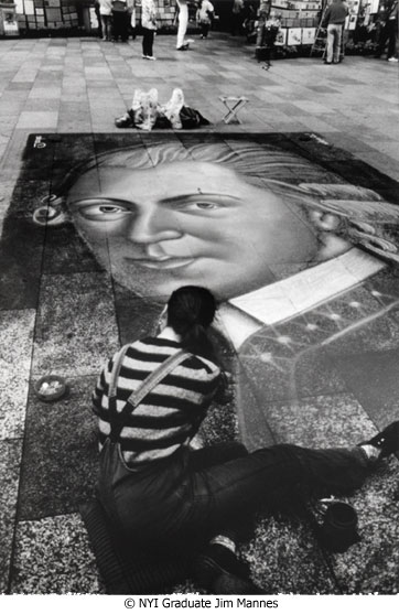 Street Artist by NYIP Student Jim Mannes