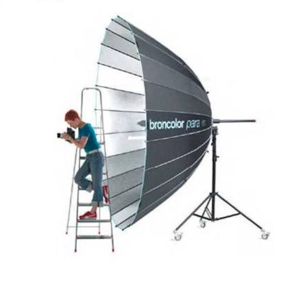 Broncolor Para 330: This giant modifier impresses clients and makes everyone look good.