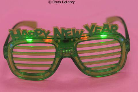 Happy New Year glasses photo by Chuck DeLaney