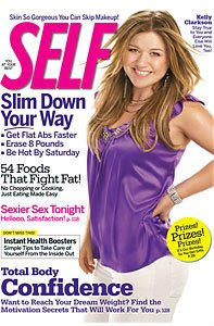 Kelly Clarkson on the cover of Self magazine.