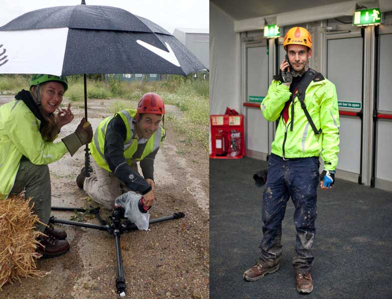 Be prepared. I'm seen here sporting the latest in fetching PPE gear and getting very wet and muddy. I can't stop it raining, but I can minimize its effects!