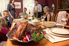 Thanksgiving Photo - Supper Table image