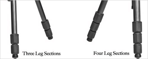 Tripod leg sections
