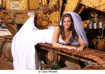 bride on catepiller