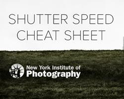 Our Favorite Shutter Speed Cheat Sheet